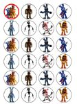 24 x Five Nights at Freddy's rice paper cake toppers tops FREEPOST